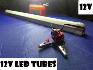 12V LED Tube Lights Complete With Alligator Clips & Leads.  Turn Key Products.
