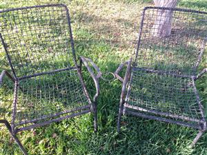 Garden Iron Chairs x 3 for sale