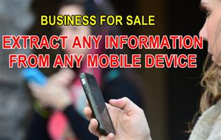 Cellphones mobile data extraction) business for sale even if deleted R410 000