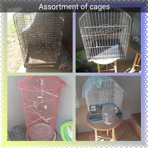 Assortment of cages
