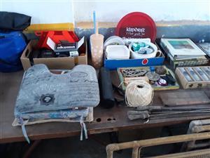 Yarn,car mats and crockery