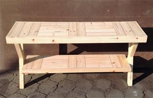 Sofa table Farmhouse series 1500 with crossed legs - Raw