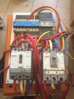 Automatic change over in DB bord 160amps