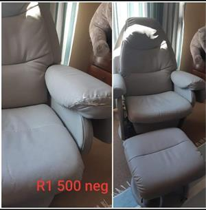 Grey baby feeding chair