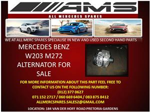 MERCEDES BENZ W203 M272 ALTERNATOR FOR SALE