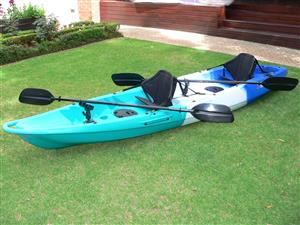 Pioneer Kayak Tandem seat with 2 seats, 2 paddles, 2 rod holders, BRAND NEW!