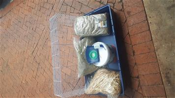 Guinea pig cage and extras