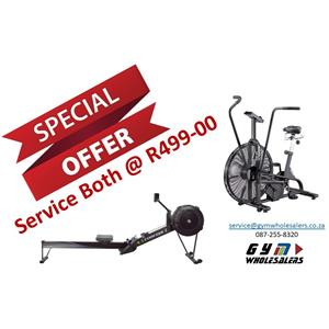 Assault Bike and Concept 2 Rower Service Special
