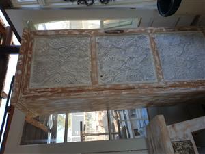 handmade Oregon and pressed ceiling cupboard
