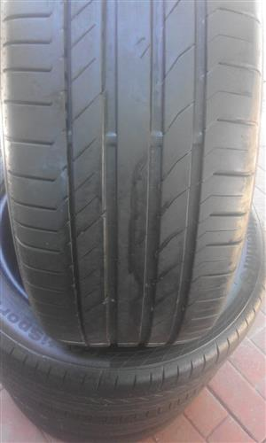 4xContinental tyres 235/50/18 close to 90% thread