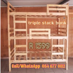 Triple Stack Bunk beds for sale