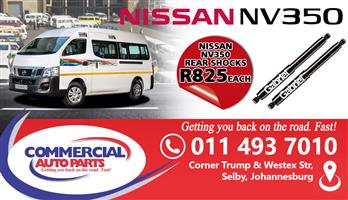 NISSAN NV350 SPARES AND PARTS FOR SALE
