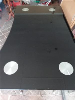 Glass black table