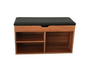Wooden Storage Shoes Cabinet Shelve With Bench Seat