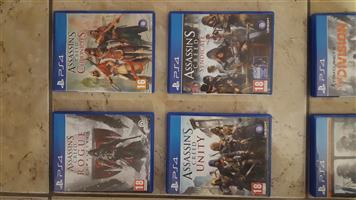 PlayStation 4 games Hardly used