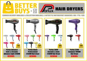Parlux Hairdryers at wholesale prices, brand new, other brands available from R195.   Advance Ionic & Ceramic Advance Light 2200W R2095