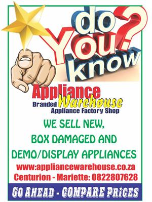 DID YOU KNOW - we sell New, Box Damaged, and Demo Appliances!