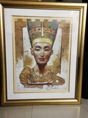 Unique Nefertiti portrait for sale