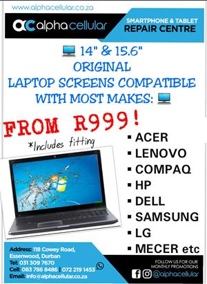 LAPTOP SCREEN REPLACEMENTS