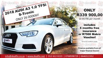 2018 Audi A3 Sportback 1.0TFSI S line