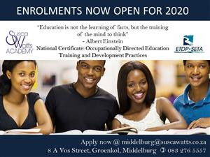 National Certificate: Occupationally Directed Education Training and Development Practices