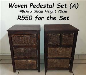 Woven Pedestal Set (A)
