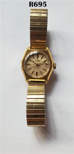 Cyma Conquistador Automatic Wrist Watch by Synchron