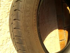 Second hand 195/55R16 Tyres in fair condition
