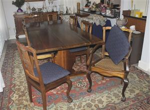 Solid Stinkwood Table and Chairs