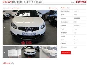 2012 Nissan Qashqai 2.0 Acenta auto