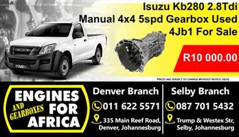 Isuzu Kb280 2.8T Manual 4x4 5Speed Gearbox For Sale