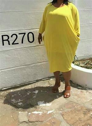 Yellow long sleeve summer dress