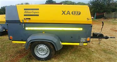 Atlas Copco 290CFM Mobile Diesel Compressor - 967hrs