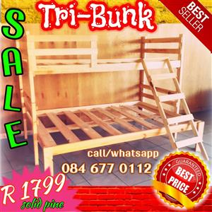 Tri-bunk beds for sale