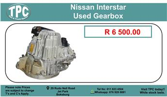 Nissan Interstar Used Gearbox For Sale.