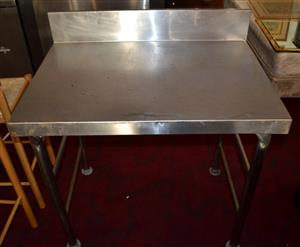 Stainless Steel 1m Table With Splash Back