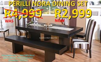 PERILLI NORA BENCH DINING SET
