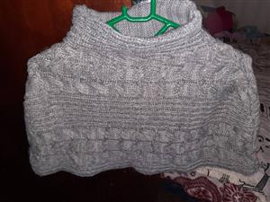 Grey jersey top for sale
