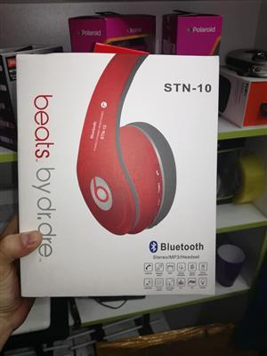 Red bluetooth headphones