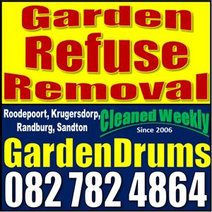 Garden Refuse Removal Service - GardenDrums weekly picked up
