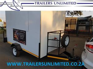 TRAILERS UNLIMITED CHEFCATION CATERING UNIT. 2800 X 1800 X 2000mm MOBILE KITCHEN.