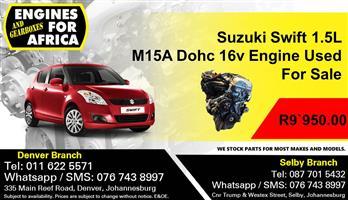 Suzuki Swift 1.5L M15A Dohc 16v Engine For Sale