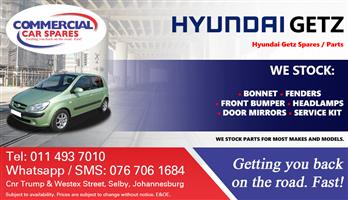 Hyundai Getz 2006 parts and spares for sale