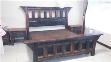 Double bed sleeper wood base