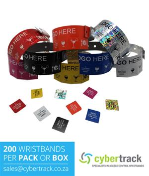 200 Tear Off Tab Wristbands for Events