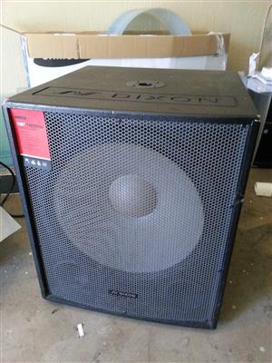 "Dixon 18"" 1200W Bass Bin | Dixon Powered Mixer FX8-400"