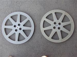 Vintage 16mm Movie Reels x2 plastic reels