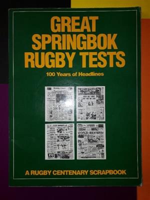Great Springbok Rugby Tests - Don Nelson.
