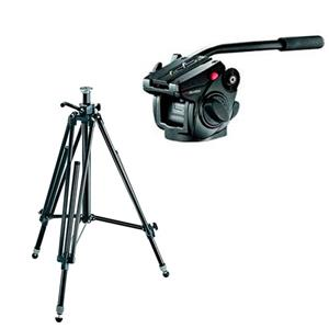 Manfrotto 028B Tripod + MVH500ah Fluid Drag Video Head R 8,300