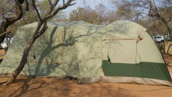 Canvas Howling Moon Bigfoot tent and extension